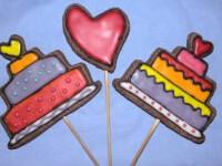 עוגיית לב על מקל