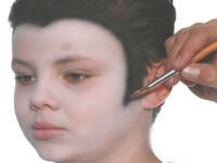 שלב 3-איפור ילדים-דרקולה