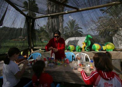 יצירה לילדים בדג בכפר אטרקציה למשפחה- אתר לגדול