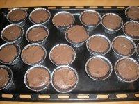 מאפינס מרוח בשוקולד