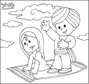 דפי צביעה לילדים הודו