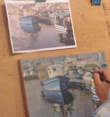חוג ציור למתקדמים במוזיאון רמת גן
