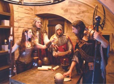 אבירי השולחן העגול חדר בריחה בכפר סבא - אתר לגדול