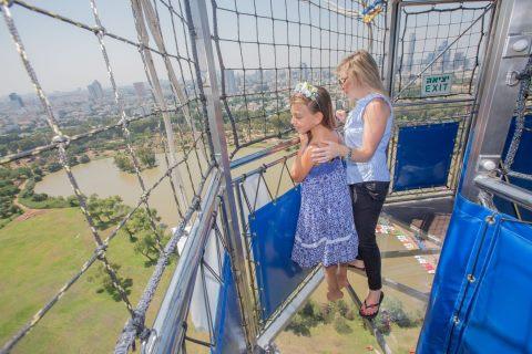 הכדור הפורח תל אביב- רצפה שקופה - אתר לגדול
