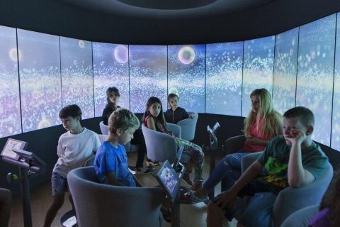 סיור במרכז המבקרים מהותי תל אביב בית מהות החיים, פעילות לילדים במרכז