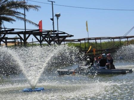 סירות פדלים בפארק הדיג מעיין צבי אתר לגדול