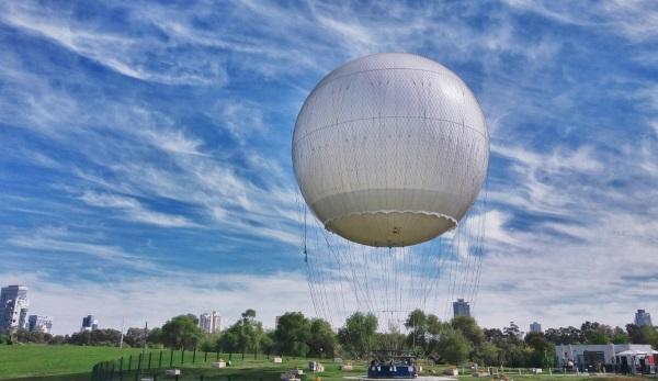 הכדור הפורח תל אביב, אטרקציה בפארק הירקון, טיסה מעל גוש דן - אתר לגדול